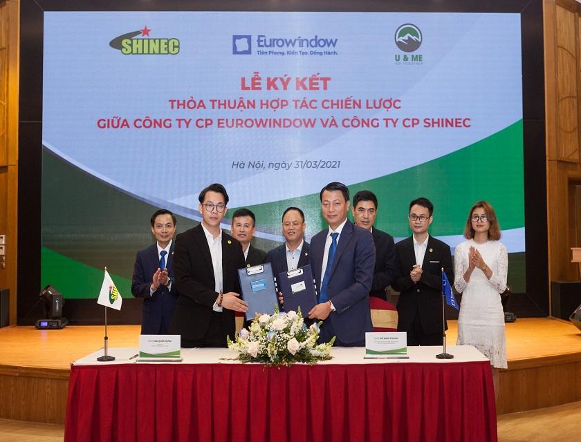 Eurowindow và Shinec hợp tác chiến lược, phát triển công trình xanh tại Việt Nam